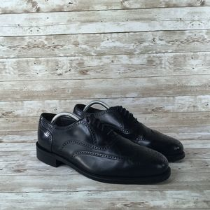 Dexter Wingtip Oxford Black Leather Mens 9.5